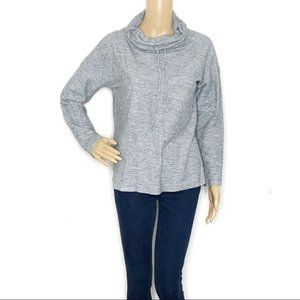 Talbots Athletic Gray Cowl Neck Long Sleeve Top